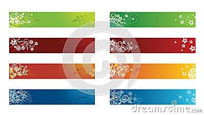 Decorative seasonal floral banners