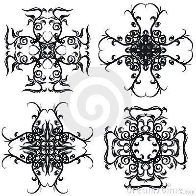 Decorative set cross I b&w