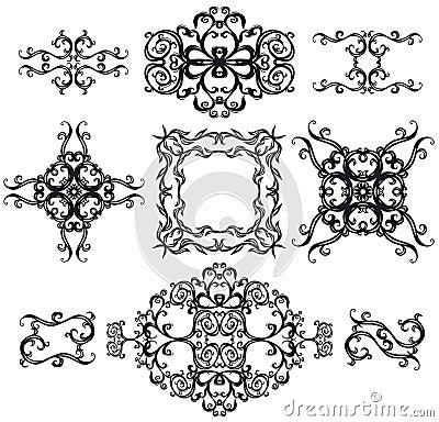 Decorative set cross IV b&w