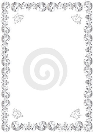 decorative silver frame stock images image 9121784