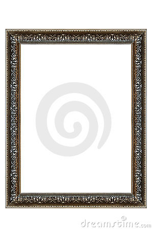 Decorative Silver Oval Frame