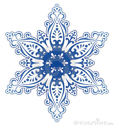 Free Decorative Snowflake Ornament Vector Stock Image - 1364601