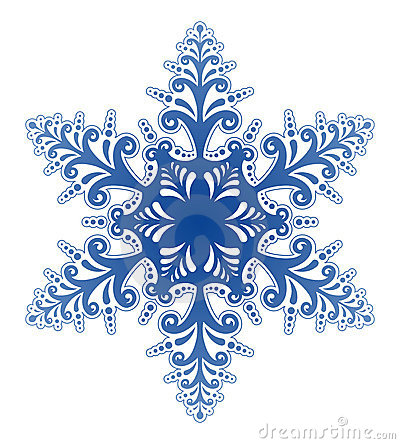 Free Decorative Snowflake Ornament Vector Royalty Free Stock Photography - 1364637