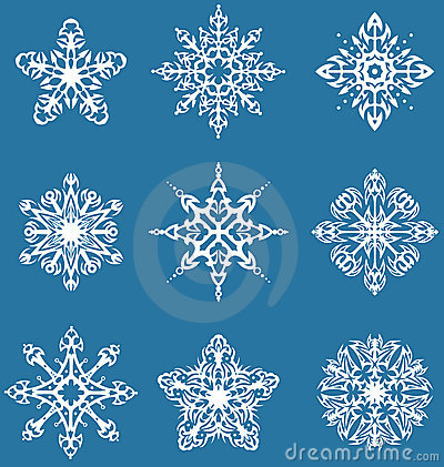 Decorative snowflakes set