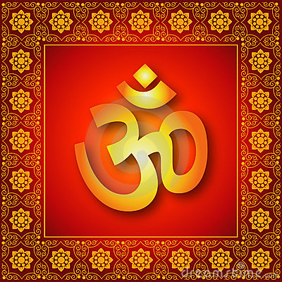 Decorative Spiritual Om Sign