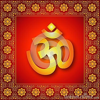 Decorative Spiritual Om Sign