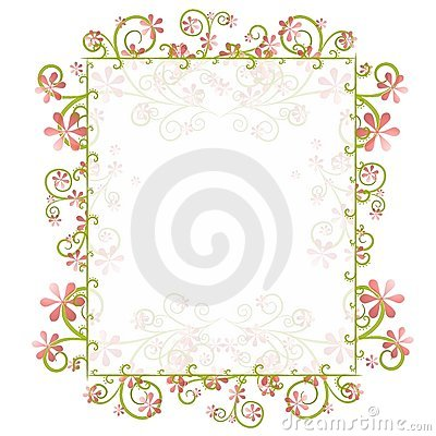 Decorative Spring Floral Border Frame