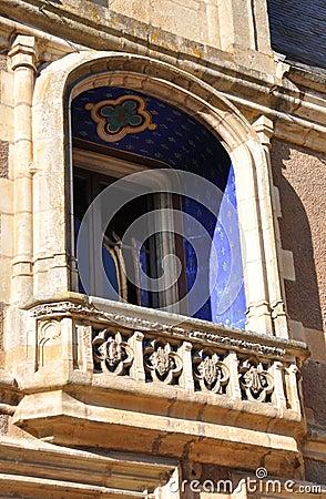 Decorative stone balcony