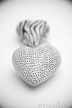 Decorative stone hearts