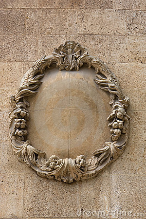 Decorative stone wreath