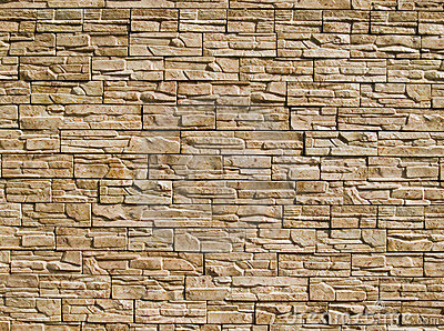 Decorative stones wall