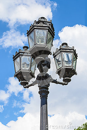 Free Decorative Street Lamppost Royalty Free Stock Image - 64918576