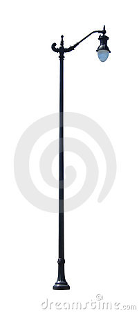 Decorative Street Light 2 with Clipping Path