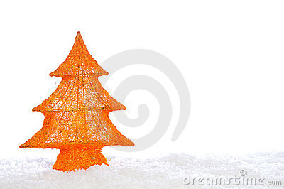 Decorative stylish christmas tree