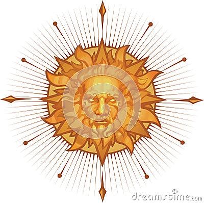 Decorative sun emblem