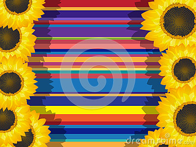 Decorative sunflowers card