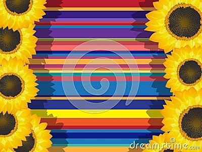 Decorative sunflowers card