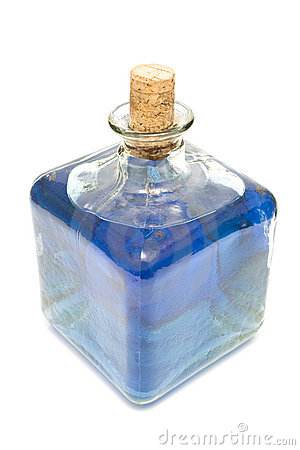 Decorative traditional bottle with water