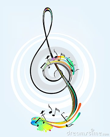 Decorative treble clef