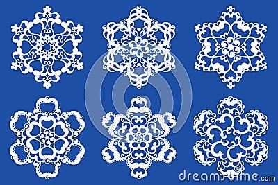 Decorative vector Snowflakes set 2