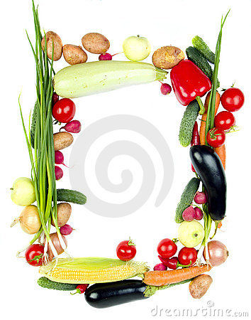Free Decorative Vegetables Frame Royalty Free Stock Photo - 2856395