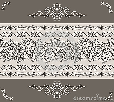 Decorative vintage border
