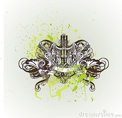 Free Decorative Vintage Shield And Royalty Free Stock Photo - 2348545