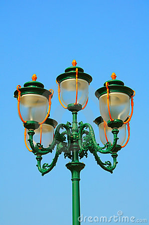 Decorative vintage street lights