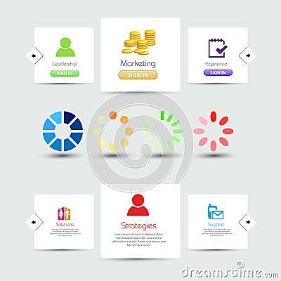 Decorative website elements