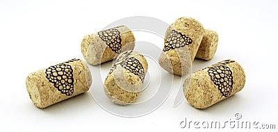 Decorative wine corks