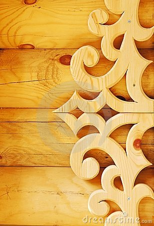 Decorative wooden element