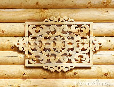 Decorative wooden element