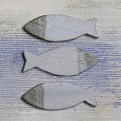 Decorative wooden fishes