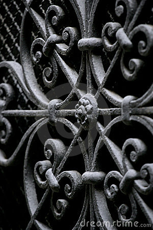 Free Decorative Wrought Iron Security Royalty Free Stock Image - 562406