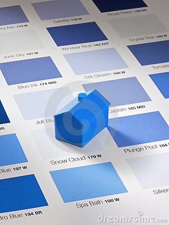 Decorator Paint Swatches and House