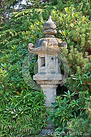 decorazione del giardino di stile giapponese fotografia