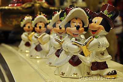Decorazione del mouse di Minnie e di Mickey Immagine Stock Editoriale