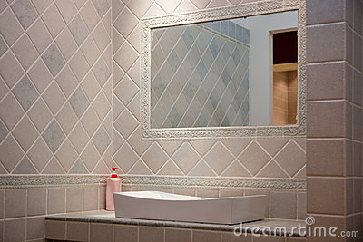 Decorazione della stanza da bagno fotografie stock for Decorazione stanza romantica
