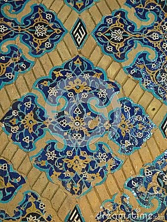 Decorazione floreale delle mattonelle in moschea blu a for Decorazione floreale