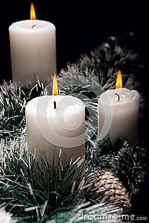 Decorazioni di natale con le candele immagini stock - Decorazioni con candele ...