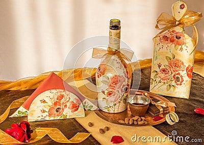 Decoupaged household items