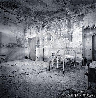 Decrepit  hospital room