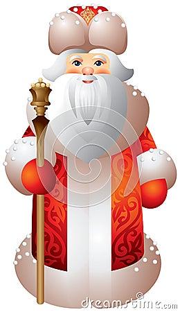 Ded Moroz rosjanina Matryoshka styl