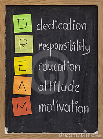 Dedication responsibility education attitude