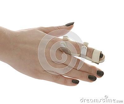 Dedo quebrado