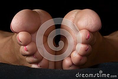 Dedos do pé fêmeas - pé