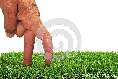 Dedos que recorren