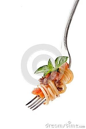 Deegwaren op vork