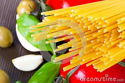 Deegwaren voor het kokende Italiaans