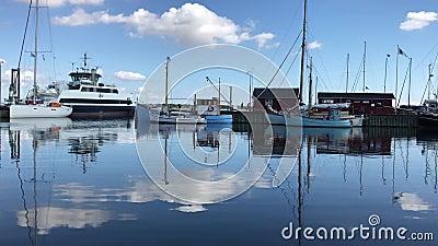 Deense haven stock footage